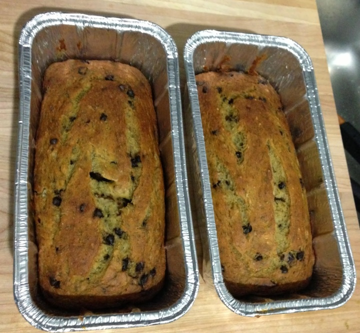 Skinny Chocolate Chip Banana Bread