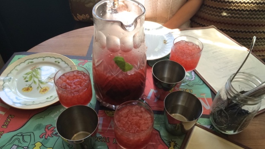 Brunchy Spritz: Passion Fruit, Aperol, Bombay Dry Gin, Hopped Grapefruit Bitters, Cava