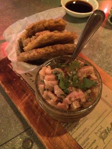 Tostones & Ceviche