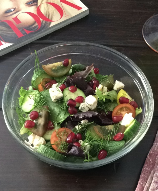 Pomegranate, Feta, & Dill Salad